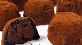 Luxury handmade chocolate truffles