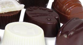 Handmade chocolate creams and pralines