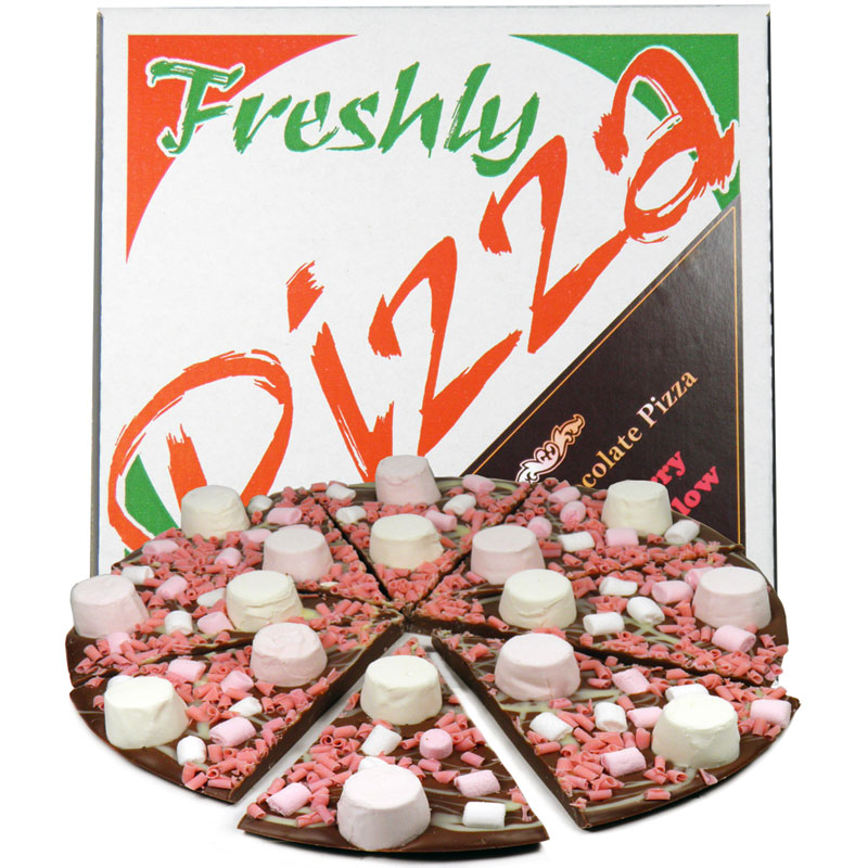 "10"" Strawberry Marshmallow Chocolate Pizza"