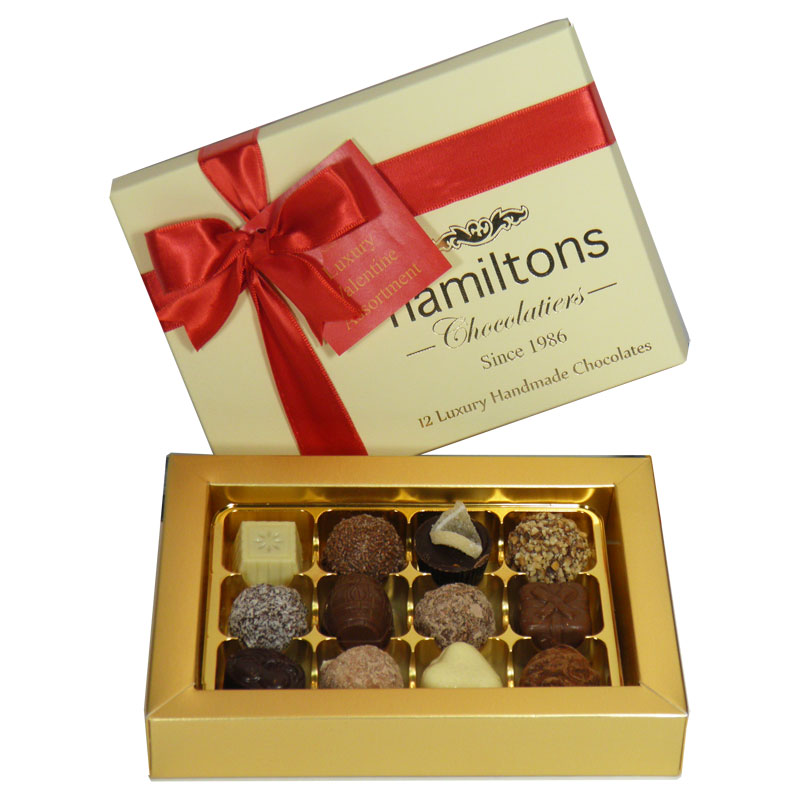Premium Luxury 12 Chocolate Valentine Gift box