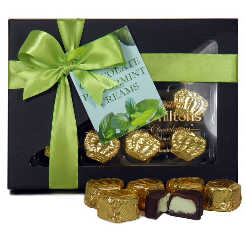 Dark Chocolate Peppermint Creams 12 Chocolate Gift Box