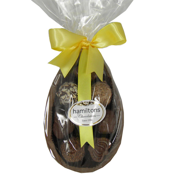 Small Half Milk Easter Egg Filled With Milk Chocolates