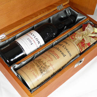 Vintage Port, Chocolates And biscuits Gift Box