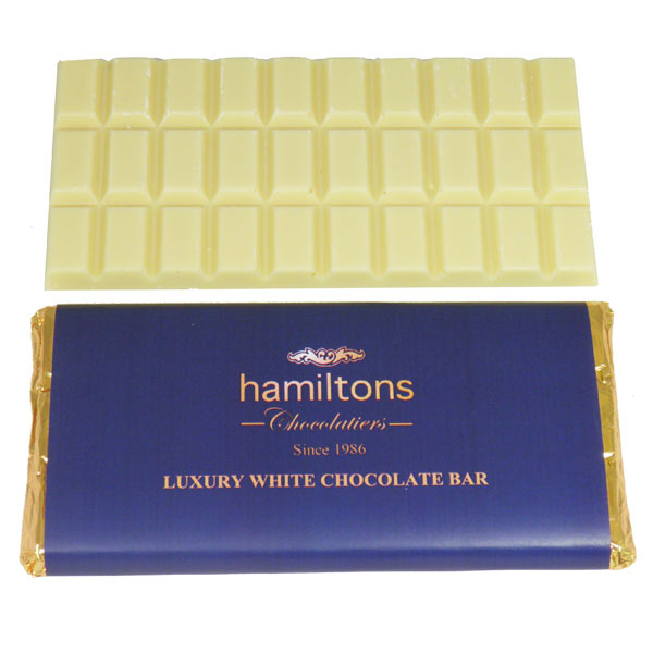 Luxury Belgian white Chocolate Bar