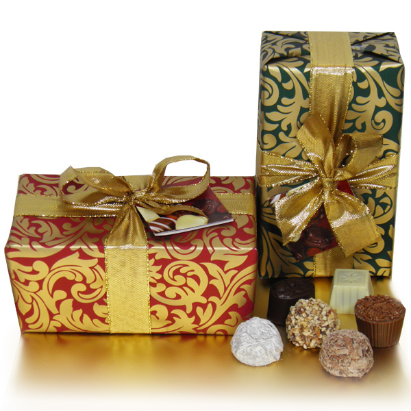 Christmas Ballotin Containing 24 Handmade Chocolates