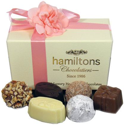 Mothers day Luxury Chocolate Box 12 Handmade Chocolates