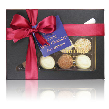 White Chocolate Selection. Contains 12 Handmade Chocolates
