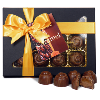 Milk Chocolate Coffee & Caramel Creams 12 Chocolate Gift Box