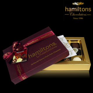 12 Chocolate Burgundy Single Layer Gift Box