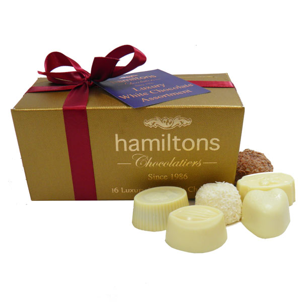 White Chocolate Selection  Contains 16 Handmade White Chocolates