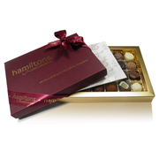 24 Chocolate Burgundy Single Layer Gift Box