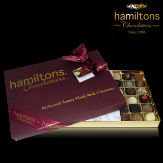 Luxury 48 Chocolate Burgundy Gift Box