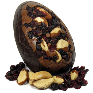 Dark Chocolate Brazil Nut And Cranberry Easter Egg