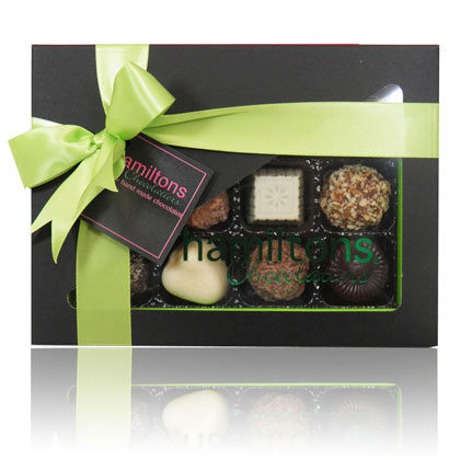 12 Chocolate Green And Black Gift Box