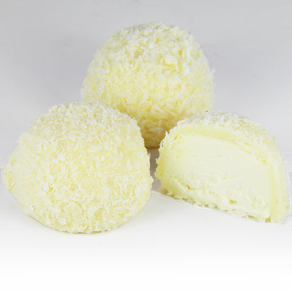 White Chocolate Malibu Truffle