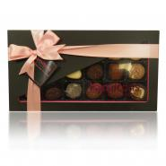 18 Chocolate Pink And Black Gift Box