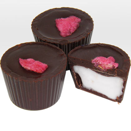 Dark Chocolate Rose Creams