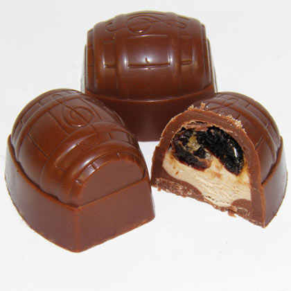 Milk Chocolate Rum and Raisin Cream