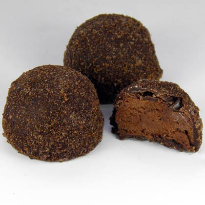 Dark Chocolate Rum and Coffee Truffle