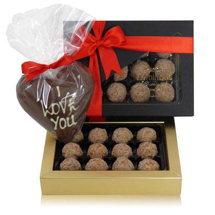 Valentine Champagne Truffles